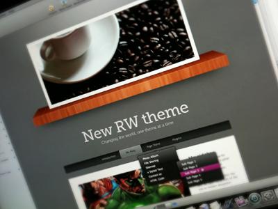 New RW theme [work in progress] rapidweaver theme wood shelf template brown gray purple