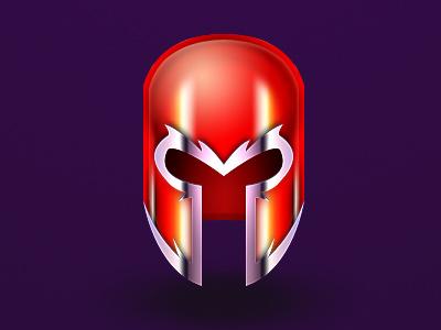 Master of Magnetism magneto brotherhood of evil mutants purple red marvel x-men xmen helmet
