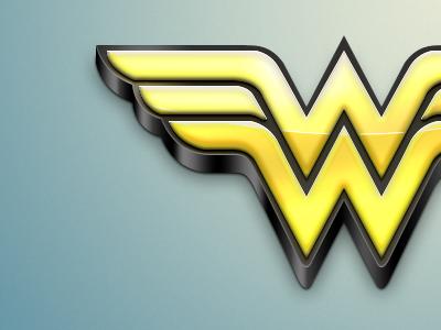 Wonder Woman wonder woman dc comic logo gold blue