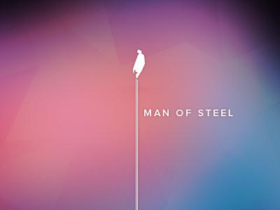 Superman Man Of Steel Vintage Poster 2