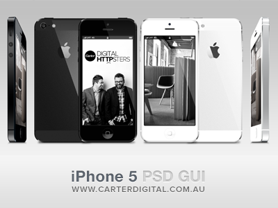 iPhone 5 GUI Vector PSD  free psd download iphone5 gui iphone mobile template vector ux melbourne ios5 white black portfolio