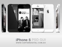 iPhone 5 GUI Vector PSD