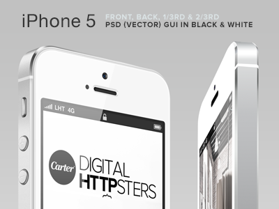 Free iPhone 5 (PSD) GUI V4 free psd download iphone5 gui iphone mobile template vector ux melbourne iphone5s carter digital agency device templates