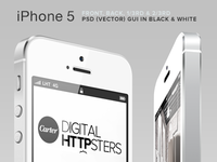 Free iPhone 5 (PSD) GUI V4
