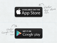 Free Vector Appstore/Googleplay Button