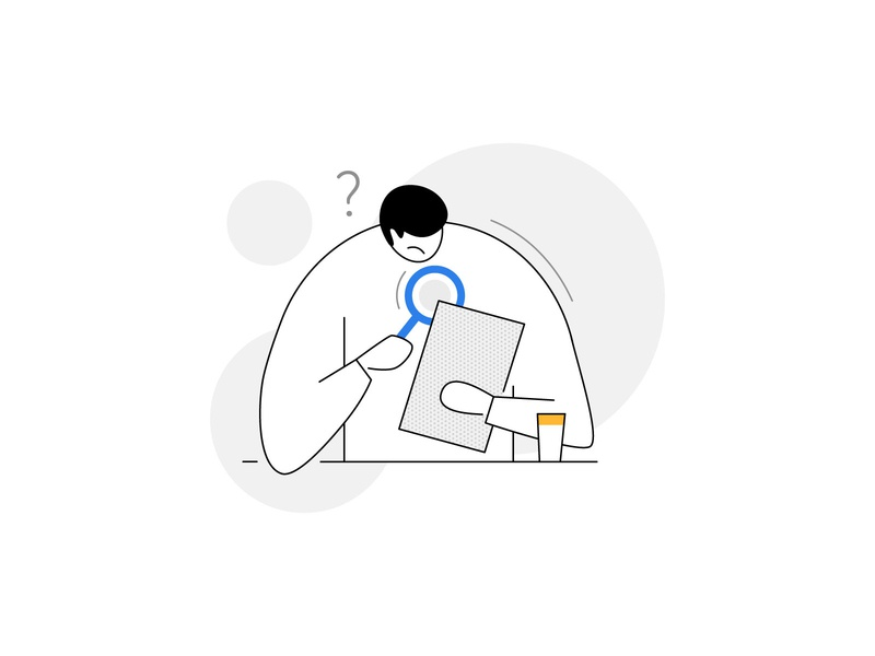 No results found! 📭 no results find search question doubt water mug paper scan lens character design characters humans sad product illustration empty state information data no data