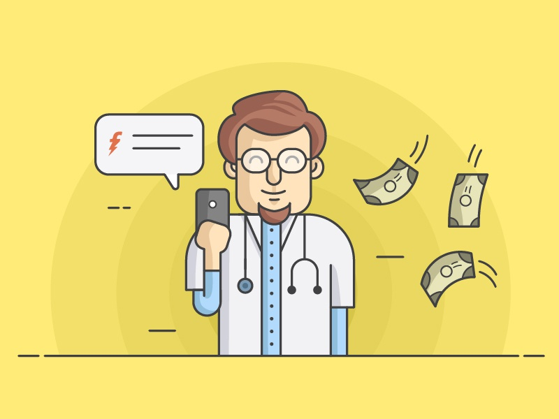 Doctor Character Freecharge by Bonie Varghese on Dribbble