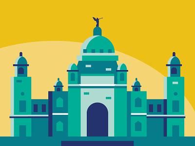 City illustration set - Kolkata illustration logo design ui icon vector branding app ux web flat city