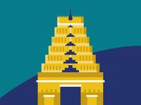 City illustration set - Chennai