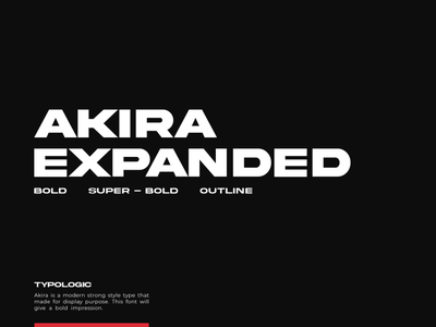 Akira Expanded design poster logo typogaphy outline expanded geometric ultra bold black bold display font typeface type
