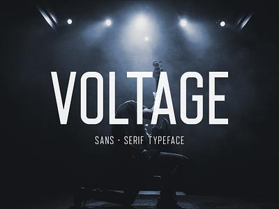 Voltage Sans-Serif Typeface typo logo vector illustration typeface font display condensed typogaphy design bold black