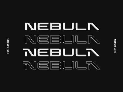 Nebula Font Concept logo movie sci-fi science fiction illustration black typeface font display typogaphy design bold