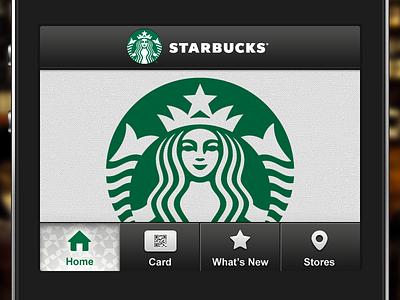 We Are Live starbucks ios app app store mobile loyalty app tab bar coffee