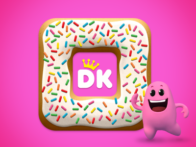 Donut Island App Icon donut king donut app ios game augmented reality ar slingshot amazeballs