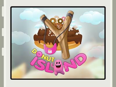 Donut Island Logo Lockup ios app donut king donut island augmented reality ar amazeballs