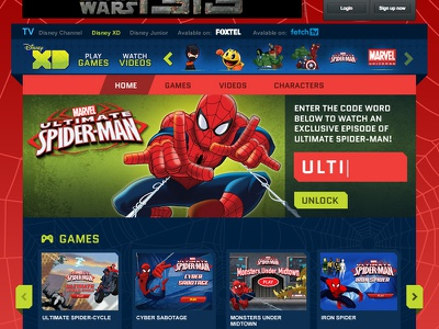Aussie XD is Live disney marvel website web design xd
