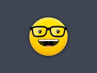 Designer emoji smiley glasses emoji illustration