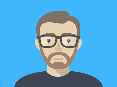 Avatar self portrait vector flat avatar illustration