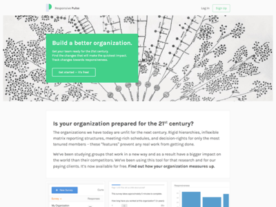 Responsive Pulse landing page