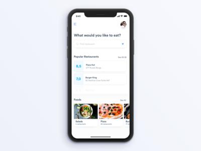 Restaurant App for iPhone X