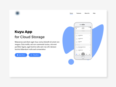 Landing Page for App