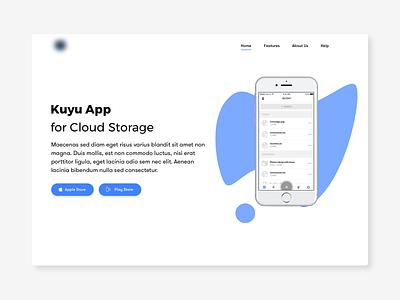 Landing Page for App storage ui google play apple ios app web page landing