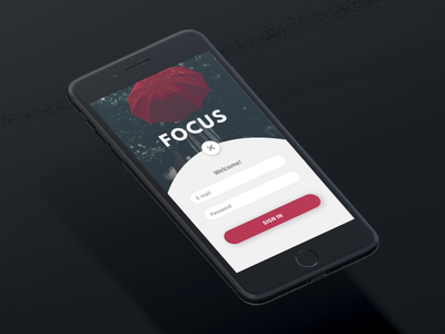 Login Page iphone app ios focus account log in sign in