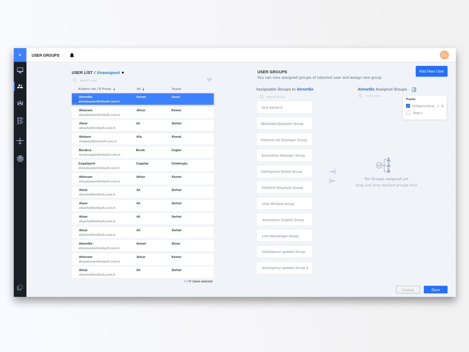 User Management Tool by Merter Kısık for Mil X on Dribbble