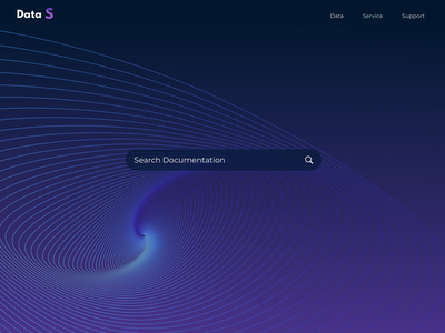 Data Search Main Page simple gradient data search icon typography ux web ui design