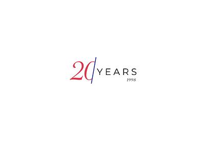 20th Anniversary anniversary year branding logo typography web ui design
