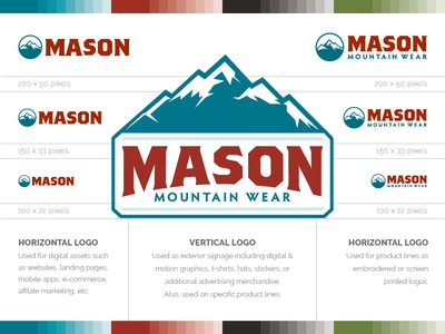 Mason Mountain Wear Logo Guidelines