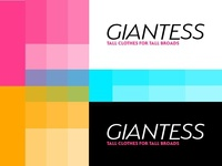 Giantess logo, color palette and typography