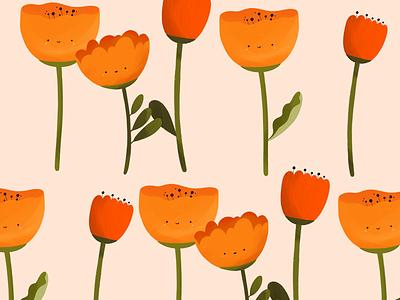Pattern design cute illustration pattern power flower