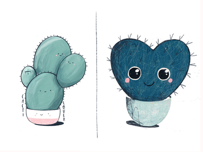 Cactus stickers cute lover cactus illustration sticker