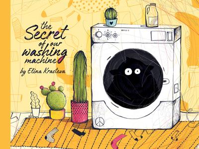 The secret of our washing machine l children's book friendships monster kids illustration mystery childrens book socks