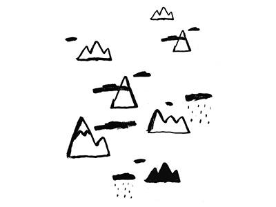 Moutains wanderlust brushpen blackandwhite graphicdesign illustration