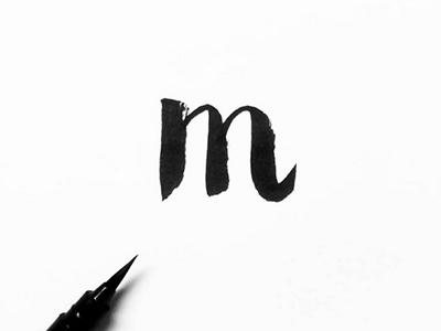 Aime blackandwhite graphicdesign handwriting handlettering lettering