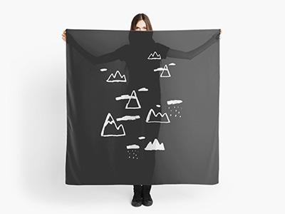 Mountains wanderlust brushpen blackandwhite graphicdesign illustration