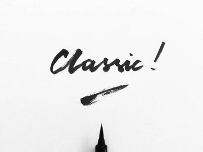 Classic ! blackandwhite inspiration graphicdesign brushlettering handlettering lettering