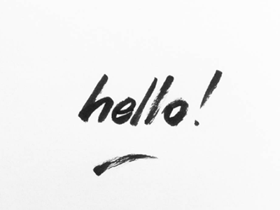 Hello calligraphy typography blackandwhite design graphicdesign handlettering lettering