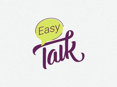 Easy talk lettering logotype
