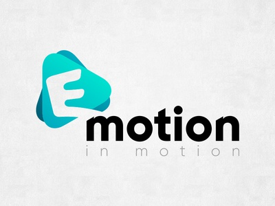 Emotion in motion. Logotype, and its variants. vector typography turquoise motion logo ligature illustrator emotion branding