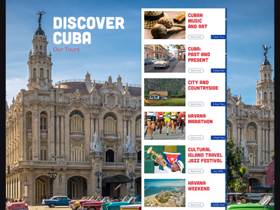 Website for Cuba traveling agency