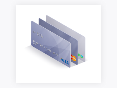 Credit Card web android mobile ios design interface website app ui illustration icon isometry visa card bank