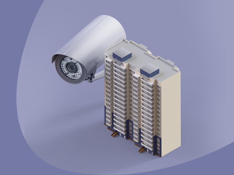 Icon for CCTV teaser design ui illustration camera house creative clean cinema render 3d icon cctv