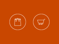 Shopping Bag/Shopping Cart Icons