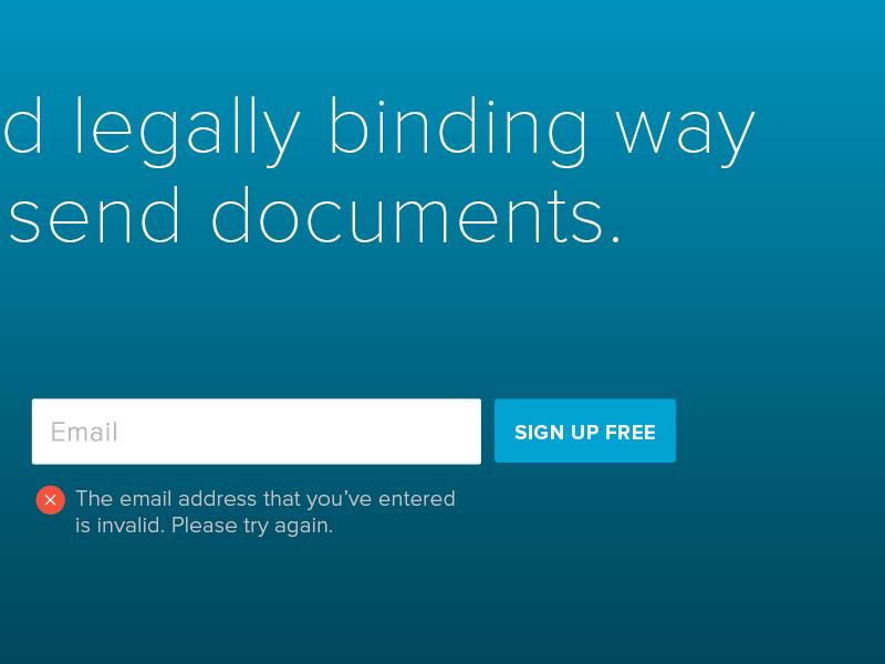 Invalid Email Address Error website ui button clean minimal web design error web flat typography layout icon