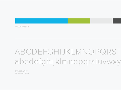 HelloSign Color Palette and Typography