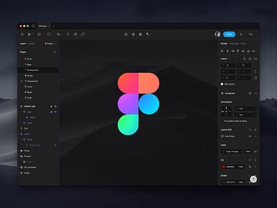 Figma Night Mode interfaces web logo interface animation night mode dark figma kit ui system design