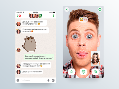ICQ Games Concept mafia vr games messenger video app ios chat icq